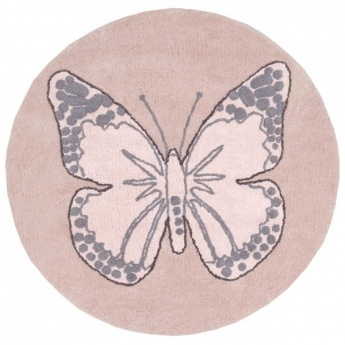 Alfombra Lorena Canals Algodón Butterfly Vintage Green 160 CMS D