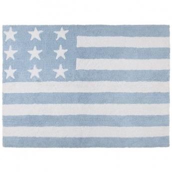 Alfombra Lorena Canals Algodón Flag American Baby Blue 120X160
