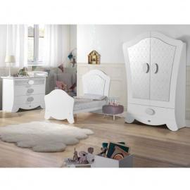Habitación de Bebé Micuna Ambiente alexa blanco plata big