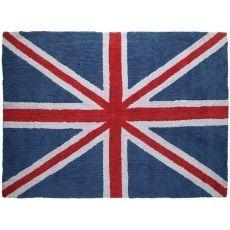 Alfombra Lorena Canals Algodón Flag England Classic Blue - Red 140 x 200