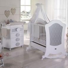 Habitación de Bebé Micuna Ambiente Alexa blanco plata Bañera