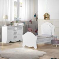 Habitación de Bebé Micuna Ambiente alexa blanco plata