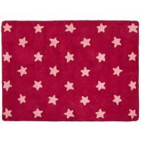 Alfombra Lorena Canals Algodón Fuchsia Stars Pink 120X160