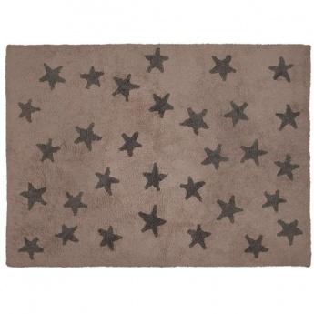 Alfombra Lorena Canals Algodón Linen Stars White 120x160
