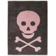 Alfombra Lorena Canals Algodón Skull Dark Grey - Pink 140X200