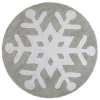Alfombra Lorena Canals Algodón Snowflake Round Grey - White 140 CMS D