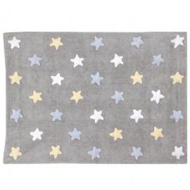 Alfombra Lorena Canals Algodón Tricolor Stars Grey 120 x 160