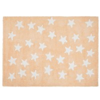 Alfombra Lorena Canals Algodón White Messy Stars Blue - Navy 120X160