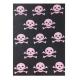 Manta Lorena Canals Algodón Italian Combed Cotton Blanket Skulls 90 x 120