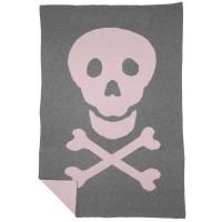 Manta Lorena Canals Lana Wool Blanket Skull 180 x 120