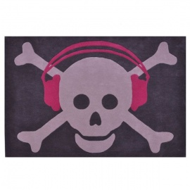 Alfombra Lorena Canals Lana Wool Big Skull Headphones 140 x 200