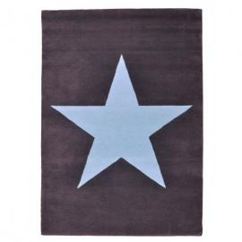 Alfombra Lorena Canals Lana Wool Star Dark Grey 140 x 200