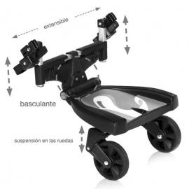 Patinete transportín negro + dibujo innovaciones ms